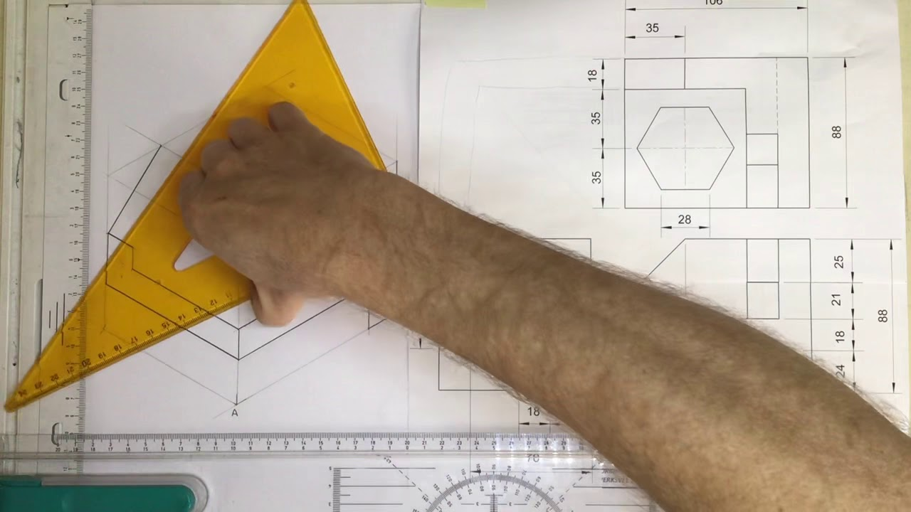 medium resolution of Isometric drawing 2020 video 1 (Gr10 HSE 7-10) - YouTube