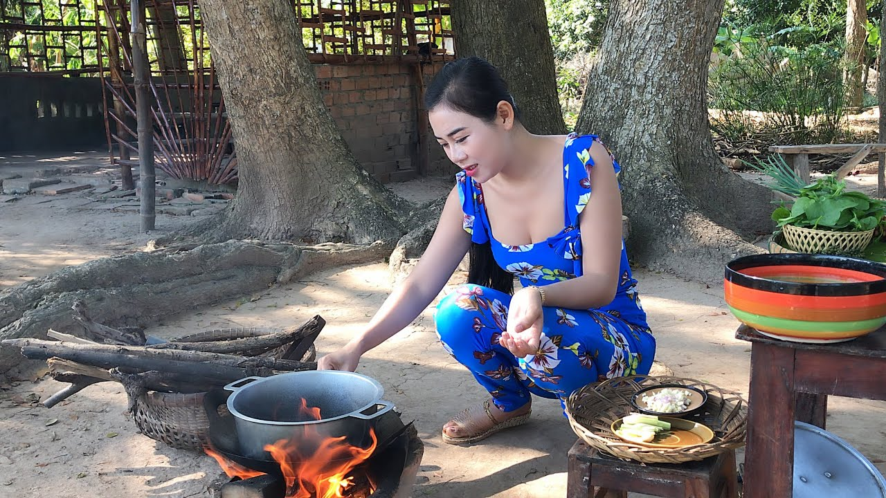 Angel Yumi Cooking | Pork stomach with green pepper | YuMi Daily Life