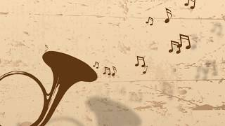 Music Notes floating from Horn // Free Motion Graphics