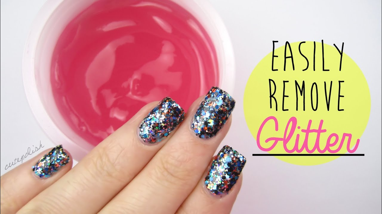 NEW EASIER Way To Remove Glitter Nail Polish