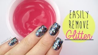 NEW & EASIER Way to Remove Glitter Nail Polish?!