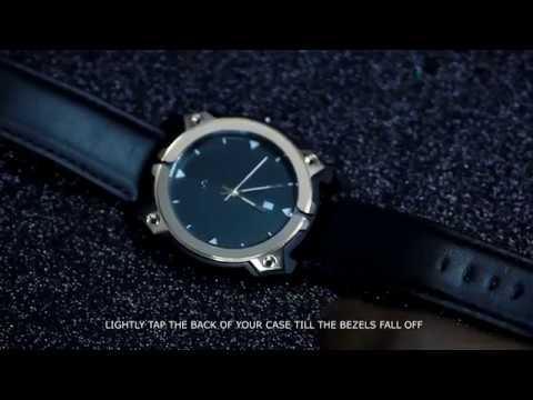 modefy one changing bezels tutorial. swiss quartz watch made for modding