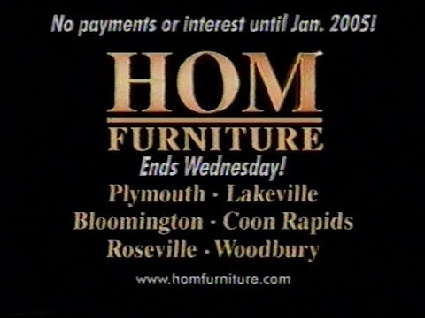 HOM Furniture Holiday Sale Commercial (2003)