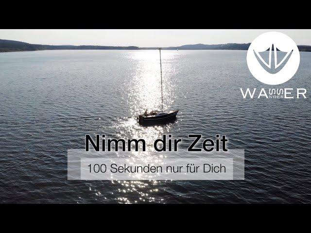 Zeit für Dich 002 - Großer Brombachsee - 4K  [Wasserwanderer - unter Segeln wandern]