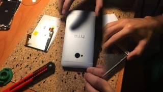 HTC One замена дисплейного модуля - HTC One lcd module replacement(На видео детально показан процесс замены дисплейного модуля на телефоне HTC One. HTC lcd module replacement Подписывайте..., 2014-08-27T21:20:11.000Z)