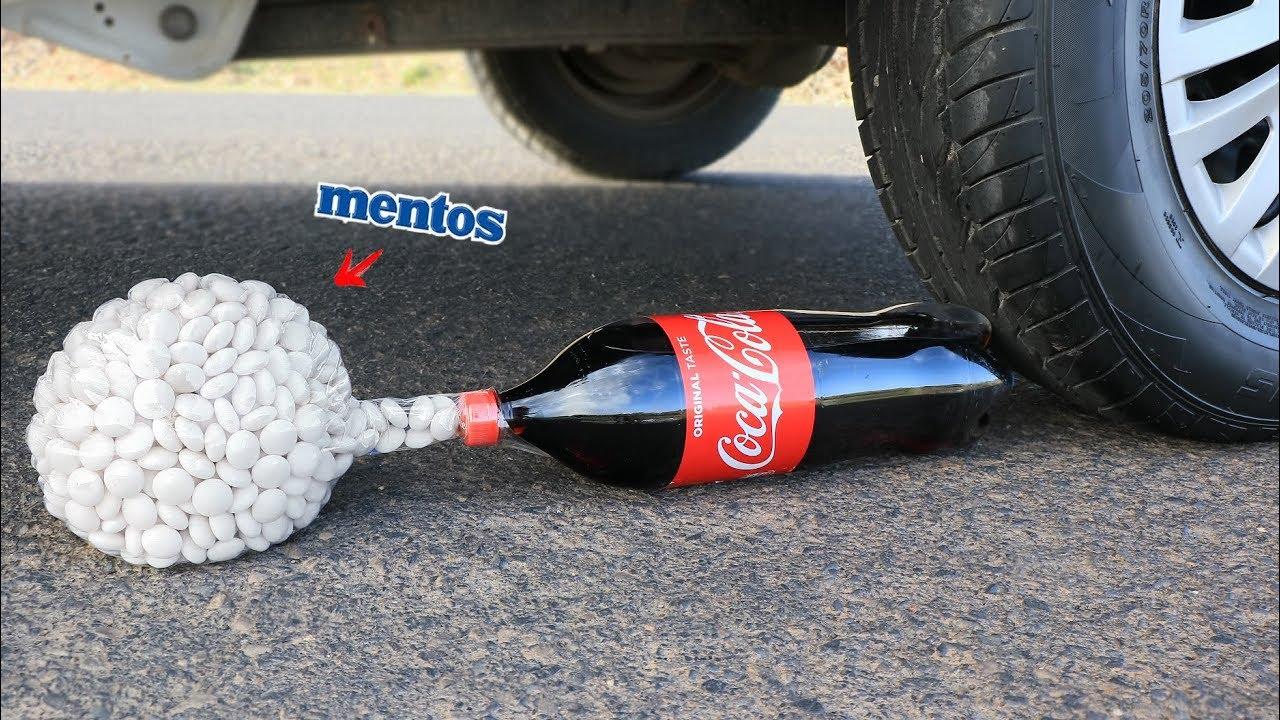 Download Aplastando Cosas Crujientes! Coca Cola y Mentos VS Rueda de Coche