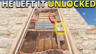 He Left His Base Completely Unlocked! - Rust Solo Survival Gameplay