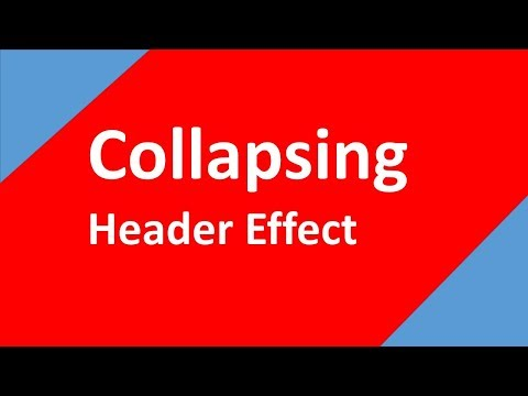 Collapsing Header Tutorial | HTML & CSS | Tech Talk Tricks