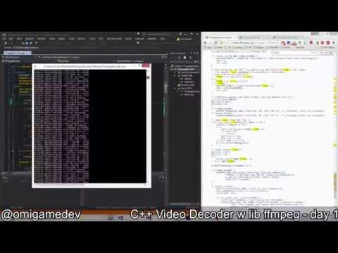C++ Video Decoder with lib ffmpeg - day 1 - YouTube