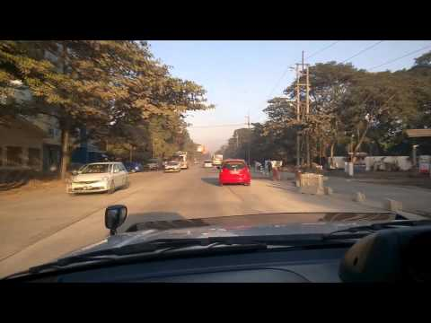 A Drive Through Yangon