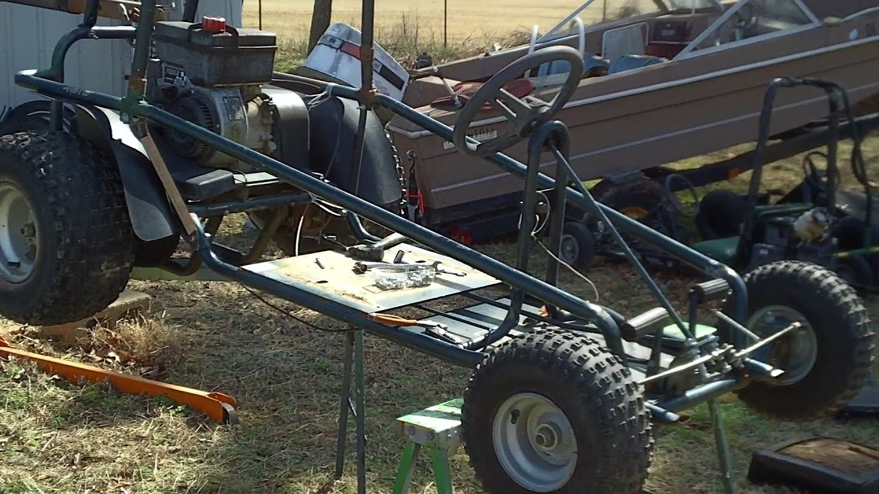 how to make a go kart out of bike parts