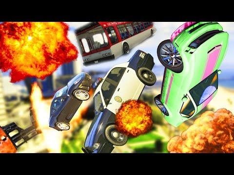ARABA FIRLATAN SİLAH!! - GTA 5 PC (Vehicle Cannon Mod)
