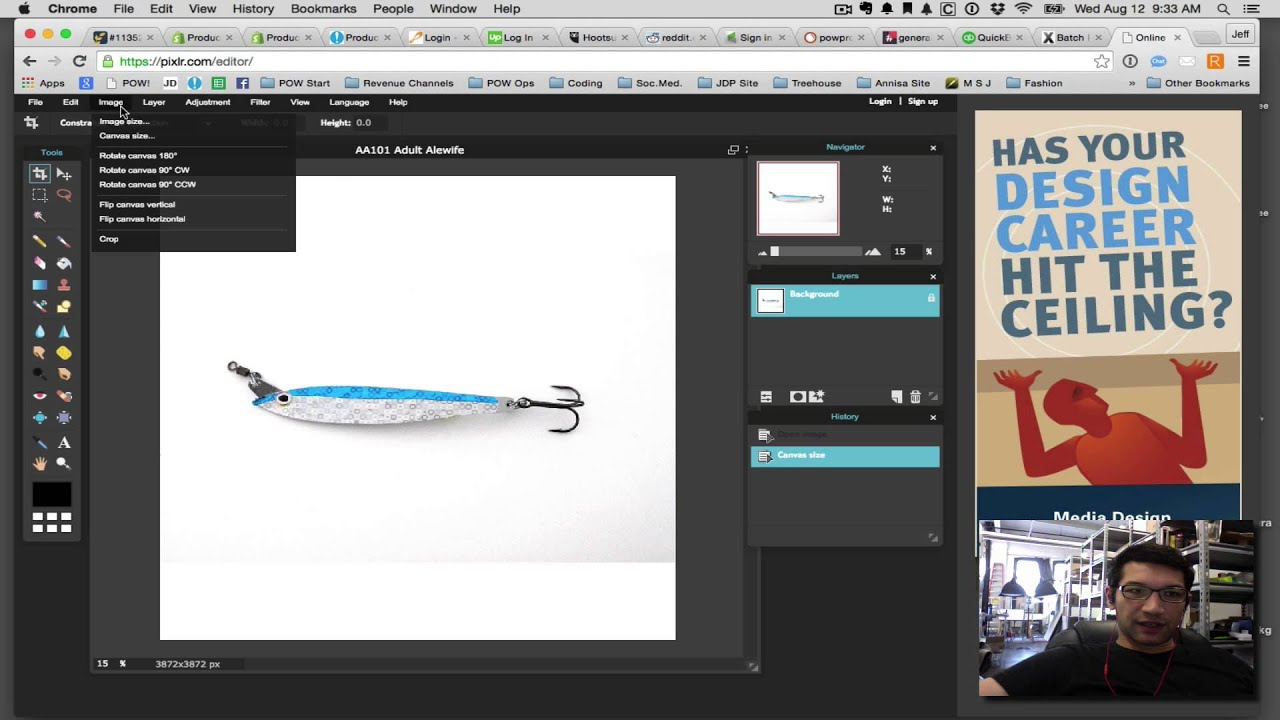 How To Resize An Image Using Pixlr Youtube
