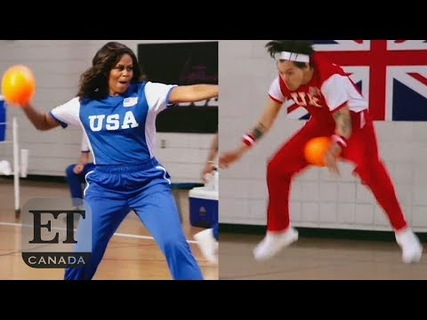 Harry Styles Nailed By Michelle Obama In Dodgeball