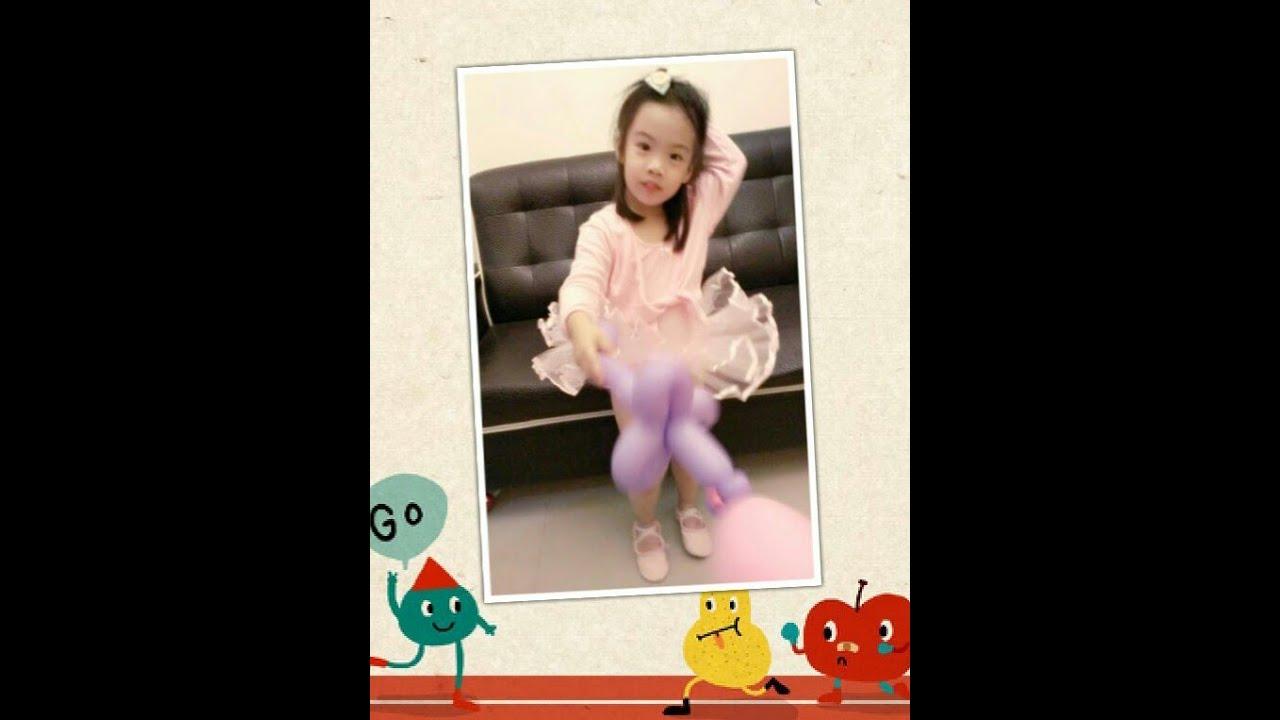 cbab47a34fb5 Little girl dances in ballet dress (3 year-old baby) 試穿芭蕾舞衣 ...