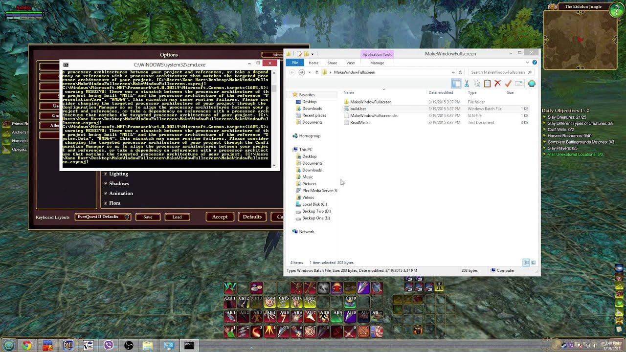 Guide: Window Fullscreen / Window Borderless!   EverQuest 2