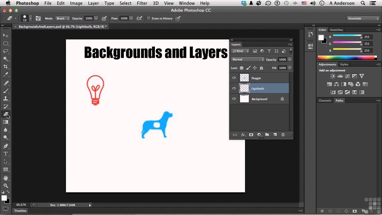 Adding background image in photoshop