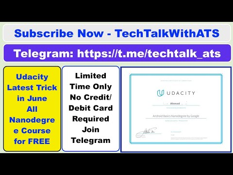 Udacity Nanodegree For Free With Certificate | #Udacity Free Courses In Rs0.0 | #TechTalkWithATS