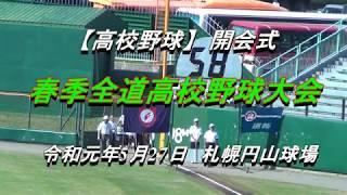 【高校野球】令和元年度 春季北海道高等学校野球大会開会式 thumbnail