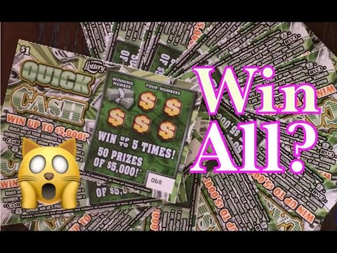 Must See!! 15 X $1 Quick Cash Florida Lottery Scratch Off Tickets