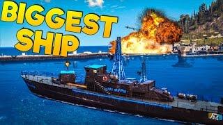 Just Cause 3: Biggest Boat (Battleship Rebel Corvette)