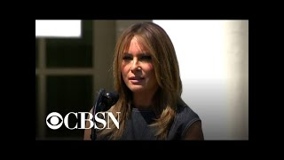 """First lady Melania Trump speaks at anniversary of """"Be Best"""" campaign"""
