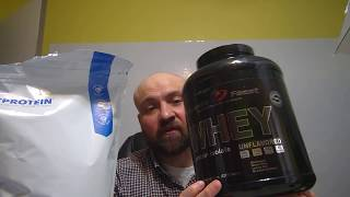 MyProtein Impact Whey Isolate Protein 2.2 lbs Review (Chocolate) vs. Muscle Feast Unflavored Powder