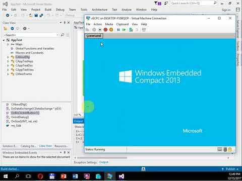 (IV) Develop apps for a virtual Windows Embedded Compact 2013