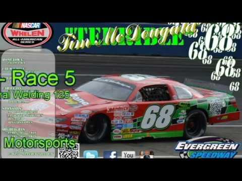"Evergreen Speedway SLM #68 ""Terrible"" Tim McDougald Driver Cam - 06-24-17"
