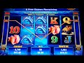 50 Dolphins Slot Machine Bonus - 10 Free Games with Stacked Wilds - Nice Win