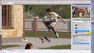 Как добавить людей на картинку в photoshop