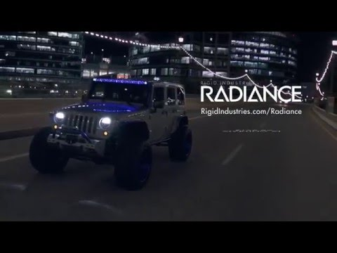Rigid radiance led light bar with back lighting youtube aloadofball Images