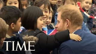 Prince Harry Hangs With Schoolchildren And A Puppy | TIME