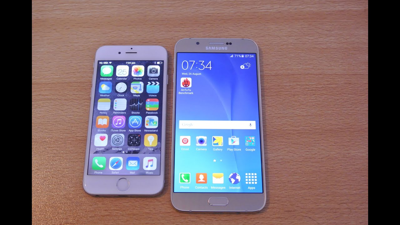 iphone 6s vs samsung a6