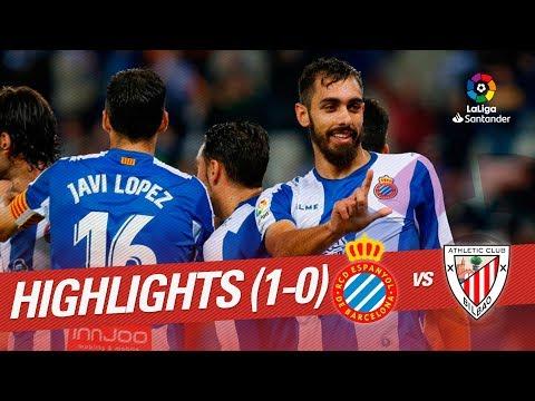 Resumen de RCD Espanyol vs Athletic Club (1-0)