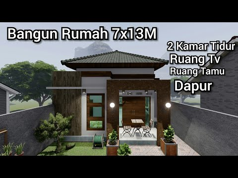 terbaru! desain rumah minimalis ukuran 7x13m gratis download