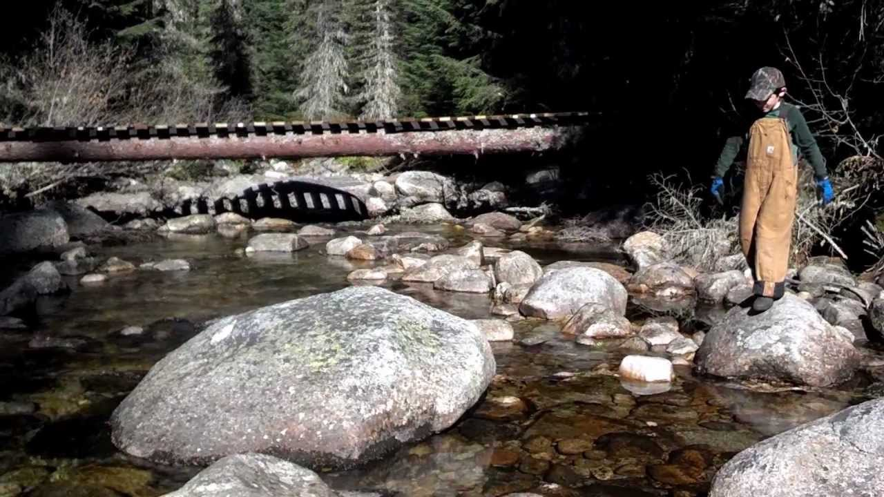 Building Bridge For Creek Crossing