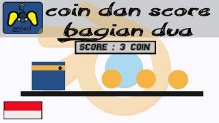 [Tutorial Blender Game Indonesia] Coin dan Score bagian 2 (No Script)