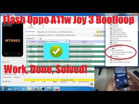 Tutorial Flash Oppo A11w via SP FlashTool