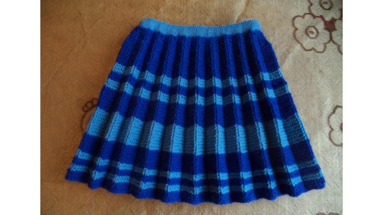 Как вязать юбку плиссировку