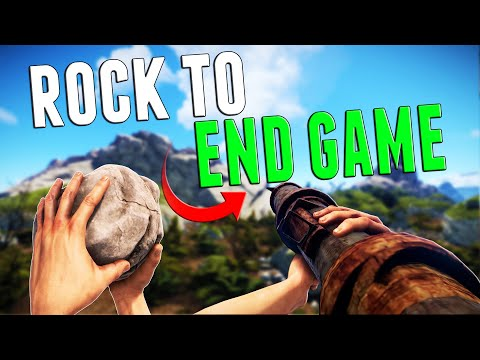 FRESH SPAWN TO END GAME IN 5 MINUTES | Rust thumbnail