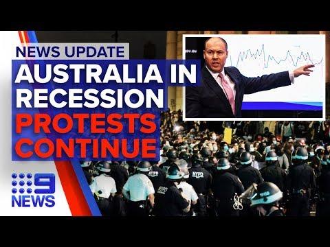 Update: Australia In Coronavirus  Induced Recession, US Protesters Continue   Nine News Australia