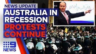 Update: Australia in coronavirus  induced recession, US protesters continue | Nine News Australia