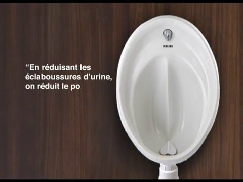 Urinoir hygieniq porcher youtube for Urinoir leroy merlin
