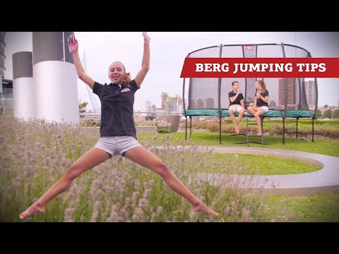 "Video: Berg Trampolin ""Champion"" mit Sicherheitsnetz Deluxe"