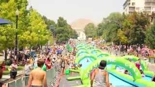 全米で話題沸騰のストリートパーティー「Slide The City」2015年日本初上陸! thumbnail