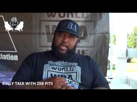 BULLY TALK WITH ZEB PITS....LEN OF LYCAN KENNELS AND WBA
