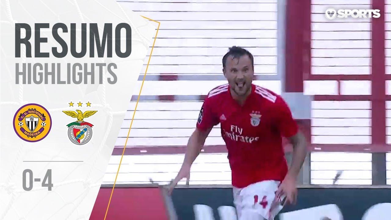 Benfica Nacional Resumo: Resumo: Nacional 0-4 Benfica (Liga 18/19 #4