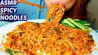 *No Talking* ASMR Homemade Spicy Stir-fried Noodles Mukbang 먹방