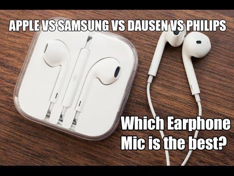 Best Earphone Mic? Apple Vs Dausen Vs Samsung Vs Philips - A Comparison.